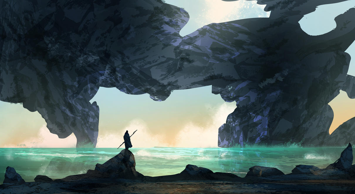 Sea Cave by TacoSauceNinja