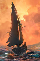 Sailing Away by TacoSauceNinja