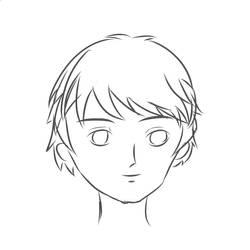 Floating head, male model