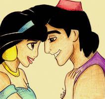 Jasmine And Aladdin. by LilNikiwi