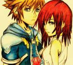 Sora And Kairi.
