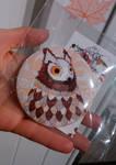 Owl pinback