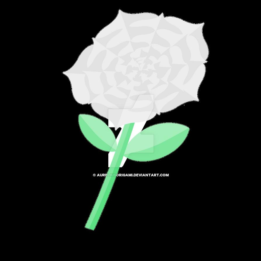 Silver Rose by AureliusOrigami