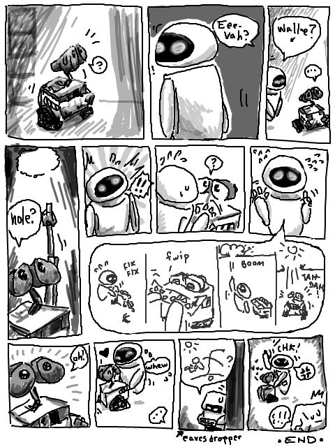 WALL-E: tegaki comic by Kaede-chama