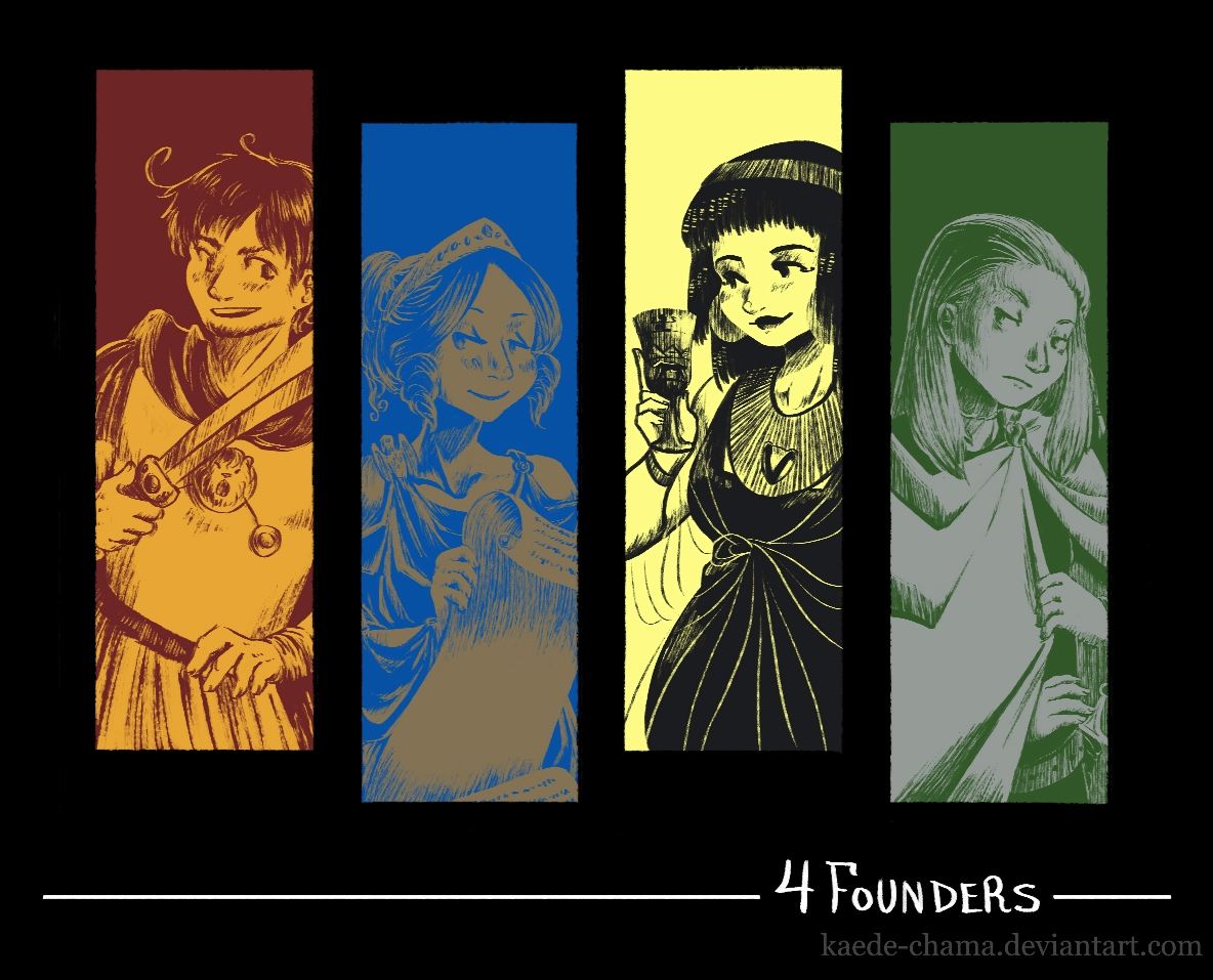 aph+hp: Four Founders by Kaede-chama on DeviantArt