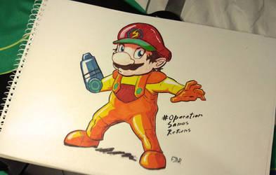 Mario x Samus by wekufeh