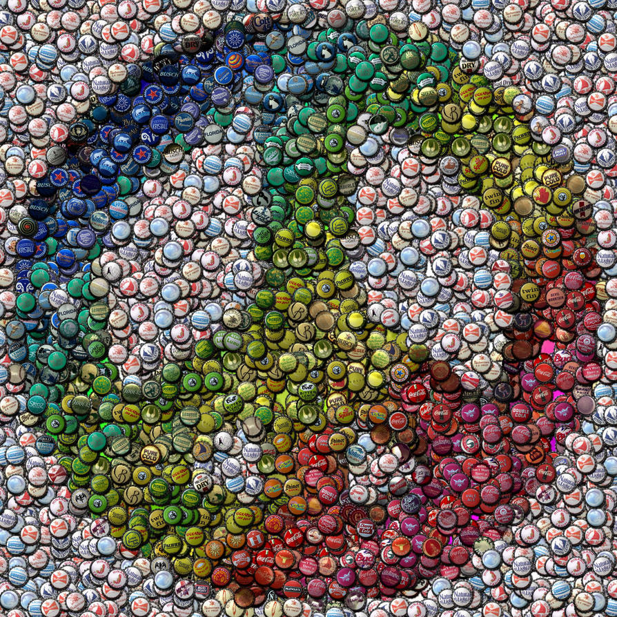 Peace sign in bottlecaps by finalscore on deviantart
