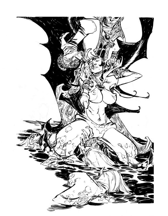 VAMPIRELLA_commission by EricCanete