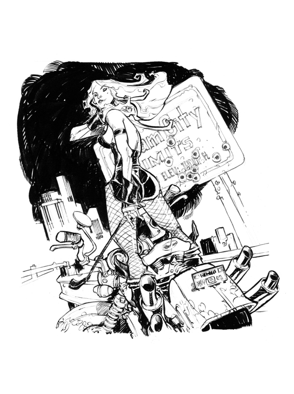 BLACK CANARY BOOKPLATE by EricCanete