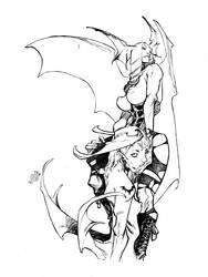 MORRIGAN and LILITH_90 minutes by EricCanete