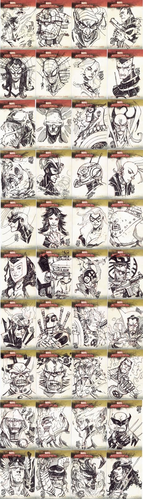 MARVEL MASTERPIECE SKETCHCARDS by EricCanete