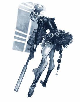 BLACK WIDOW BALLERINA
