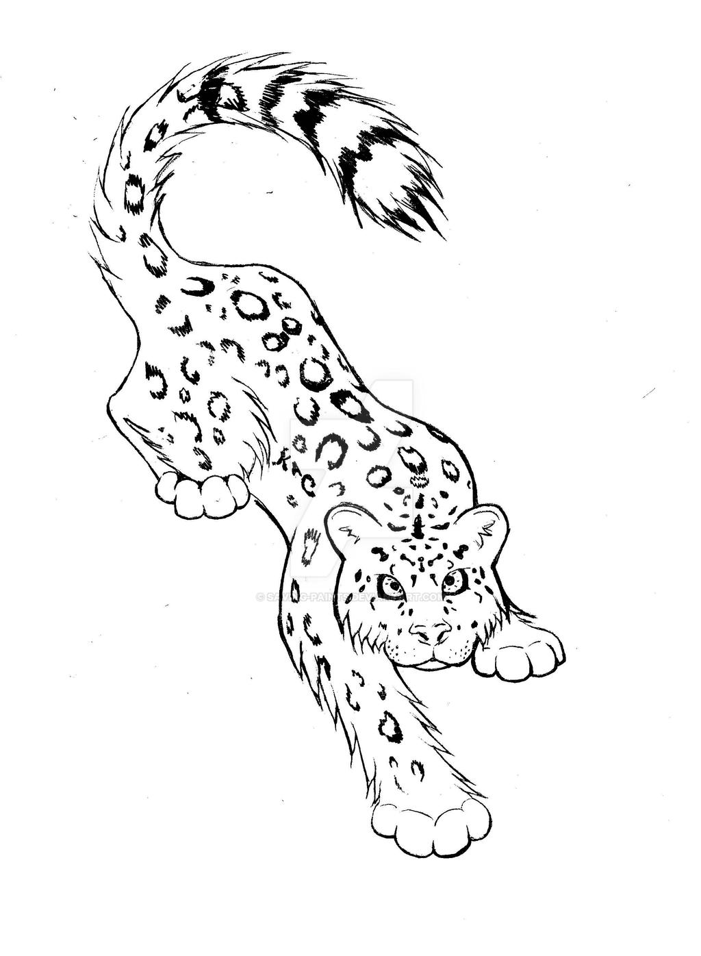 Image Result For Simple Jaguar Coloring