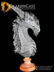 Bearded Dragon bust final sculpt 3 by drakoncast