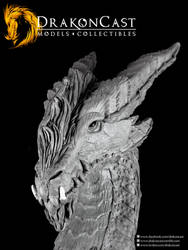 Bearded Dragon bust final sculpt 5 by drakoncast