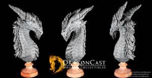 Bearded Dragon bust final sculpt