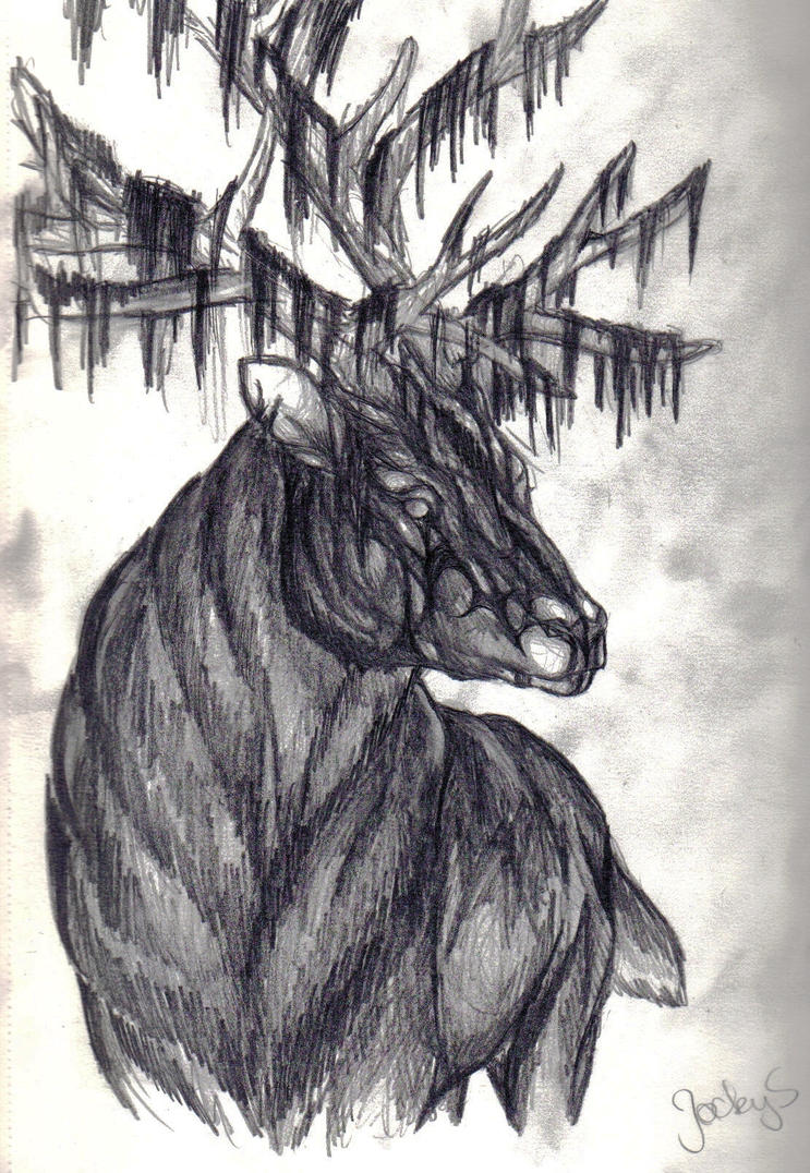 Forest Spirit Red Deer by S-l-a-n-i-a