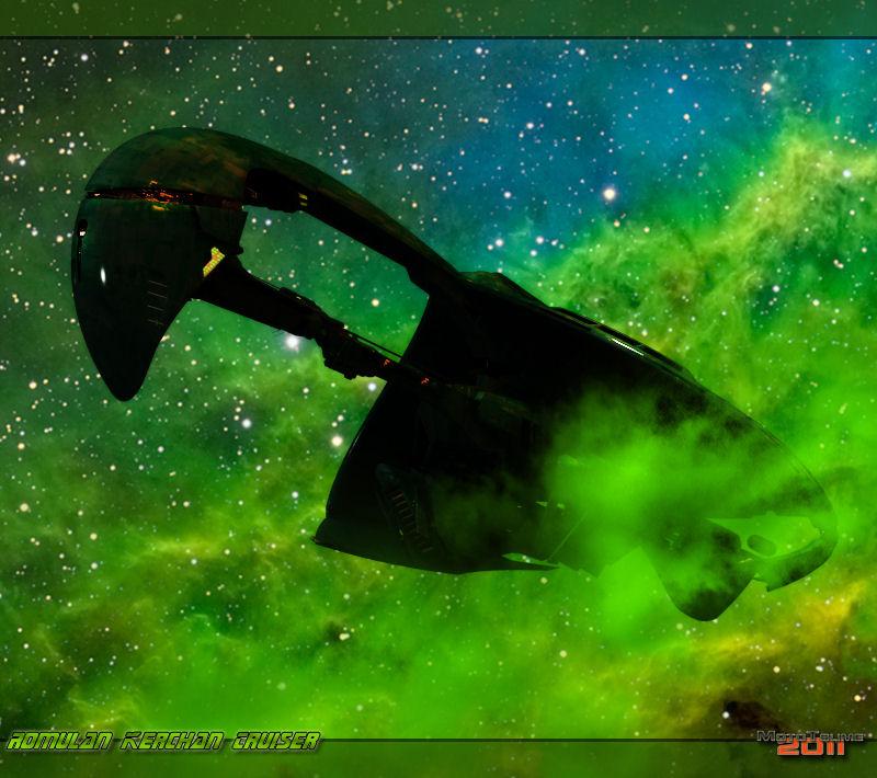 Romulan Kerchan Cruiser by MotoTsume