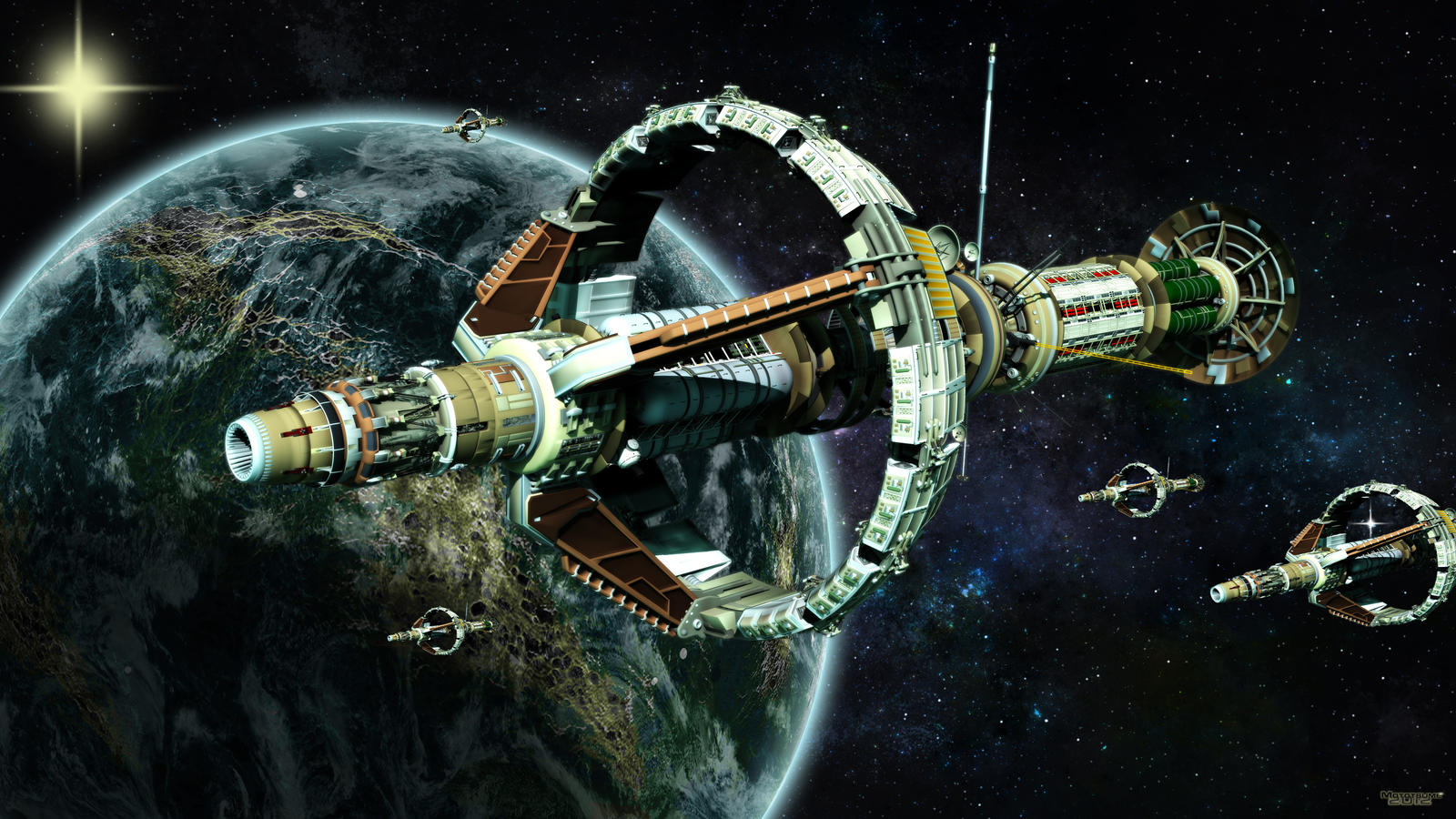 The Colony ships arrive in-system by MotoTsume on DeviantArt