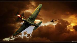 Bf-109 vs Kittyhawk