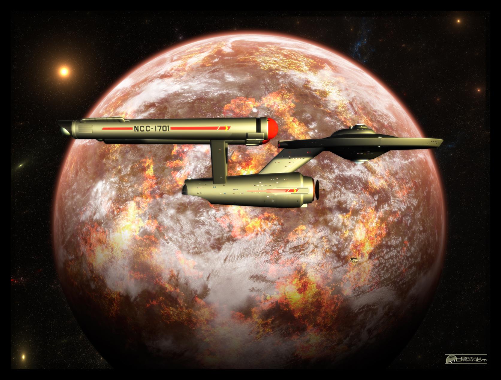 TOS Enterprise in orbit by MotoTsume