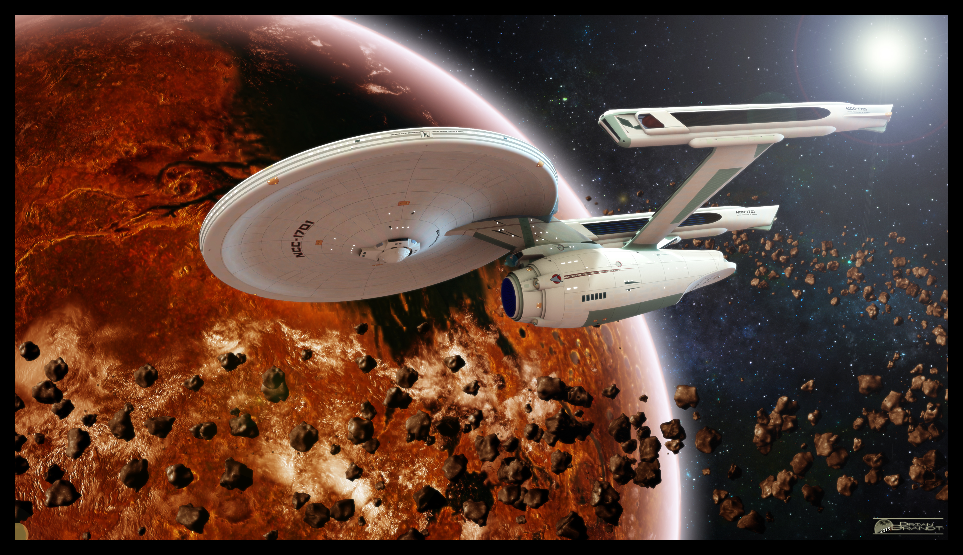 Enterprise entering orbit by MotoTsume