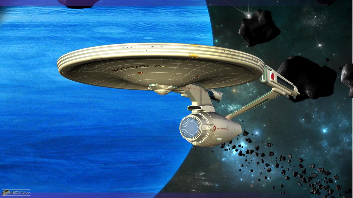 Enterprise in Orbit by MotoTsume