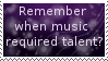 Remember When Music... Stamp