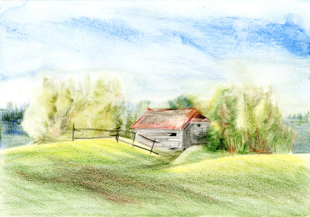 Scheune, Barn by tempelziege