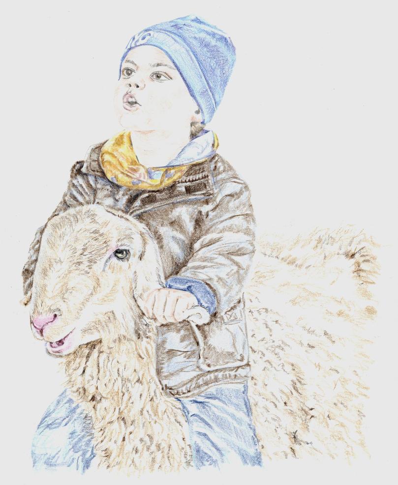 Vito and the sheep by tempelziege