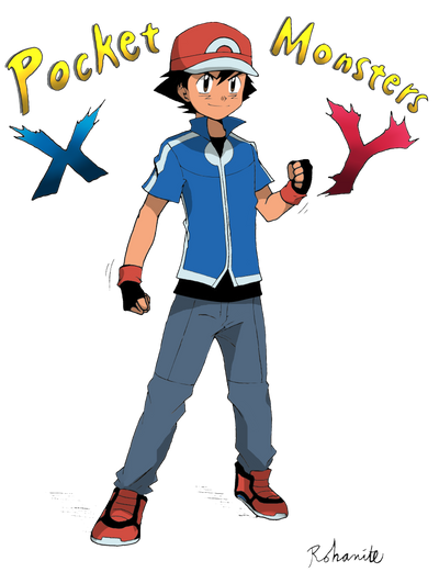 Ash Ketchum XY Outfit (Colored) by Minorkrama on DeviantArt