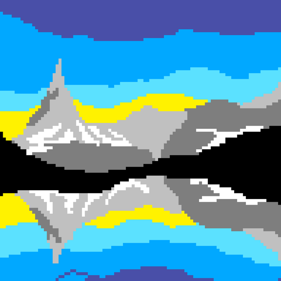 XX Pixel Mountains XX by Roslyn102