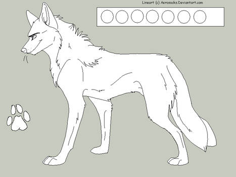 Free Male Wolf Lineart