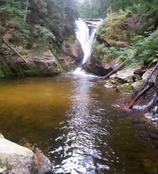 mountain waterfall 5 by luciferusss