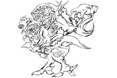 Dragon with rose (+Video in Description)