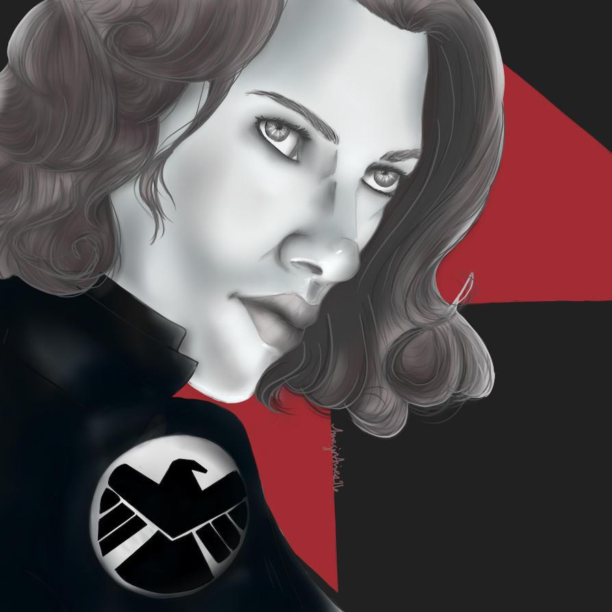 Black Widow Portrait by Imagin-Aries