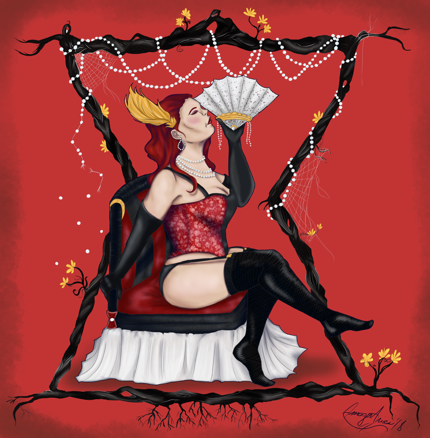 Lady Arachne by PyjamaPanda