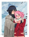 SasuSaku_I'll warm you up by allics1102