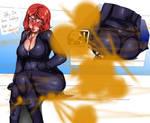 Black widow farting on antman