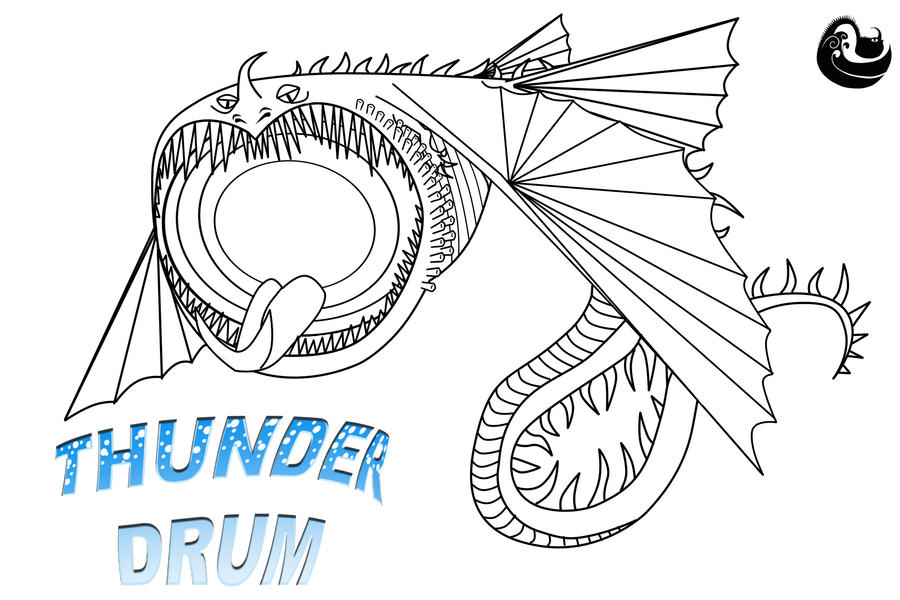 thunder drum dragon coloring pages - photo#11