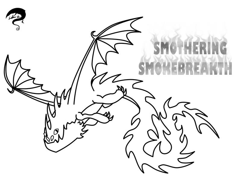 Smothering Smokebreath Outline and Char Template by