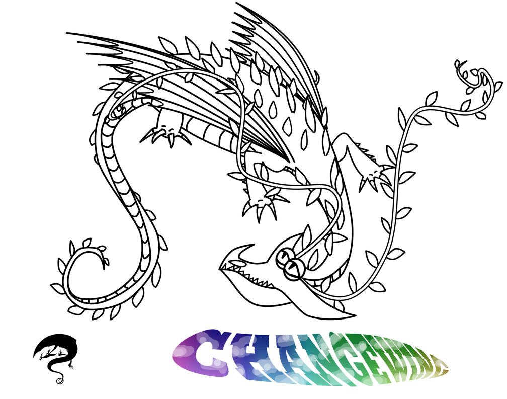 razorwhip coloring pages - changewing outline and character template by scalebound on