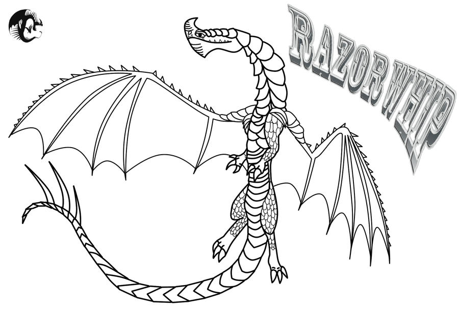 Razorwhip Outline and Chracter Template by ScaleBound on