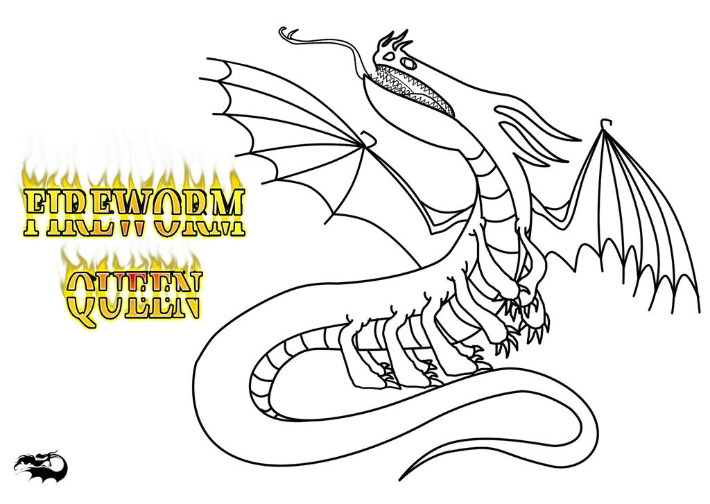Fireworm Queen Outline And Character Template By