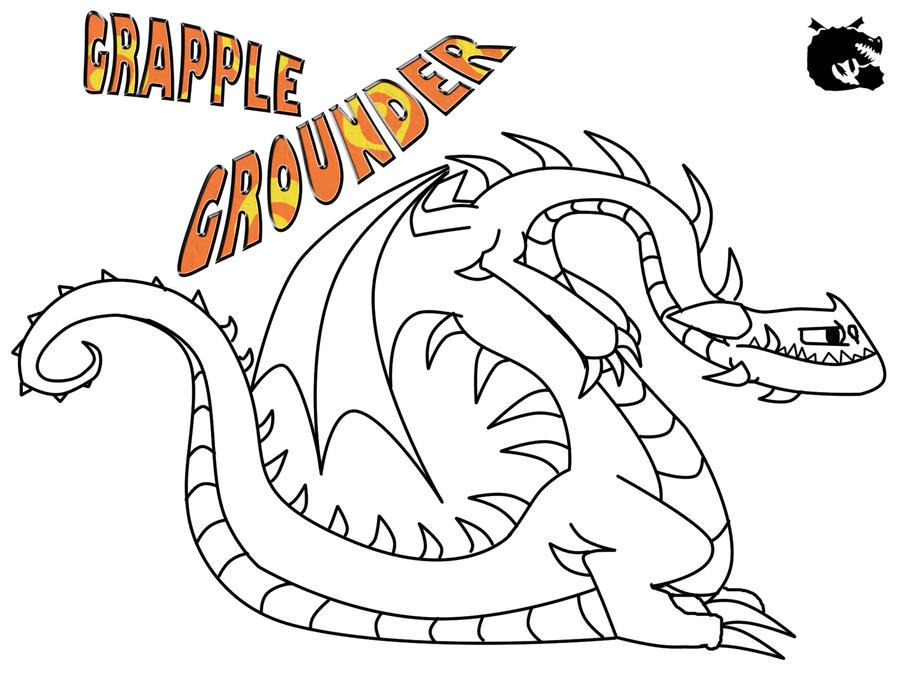 Grapple Grounder Outline And Character Template By