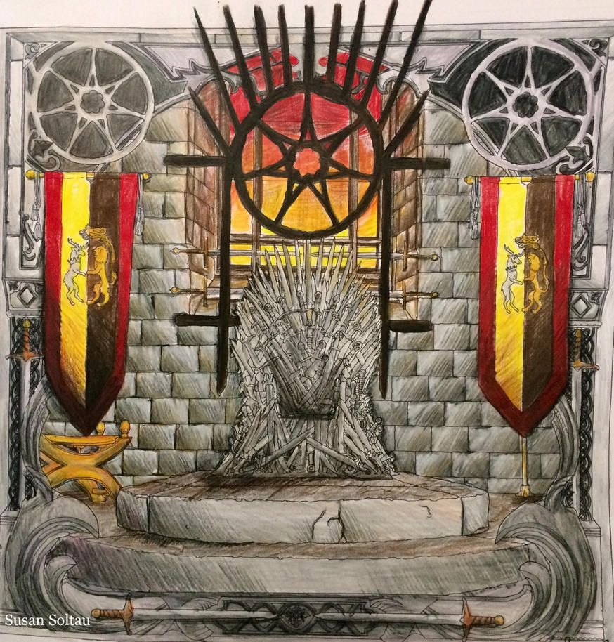 Got coloring book the iron throne by scalebound on deviantart for Game of thrones coloring book finished pages