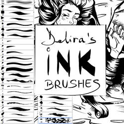 Delira's ink brushes by delira