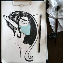 Night Elf with mask