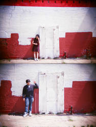 Dallas in Holga 135BC: Haskell Ave by neuroplasticcreative