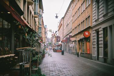 Stockholm in 135BC: Gamla Brogatan by neuroplasticcreative